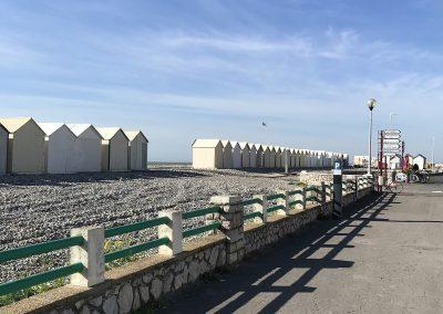 Esplanade & cabines de plage