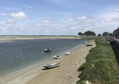 St valery sur Somme, les barques accostées